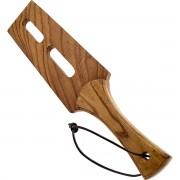 Black Label - Wooden Slot Tawse - Tre Paddle