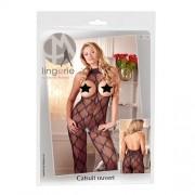 Blondecatsuit XL-2XL med åpning til bryst