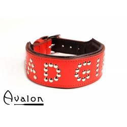 Avalon - Collar Bad girl - Rød