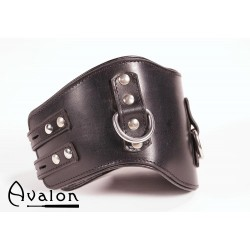 Avalon - Bredt collar med god polstring, Sort