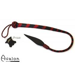 Avalon - WYVERN - Kort bullwhip, Sort og rød