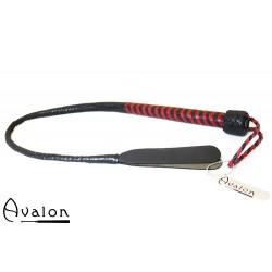 Avalon - DRAKE - Kort bullwhip med dobbel snert - Sort og rød