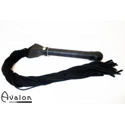 Avalon - EXCALIBUR - Sverdformet flogger - Sort
