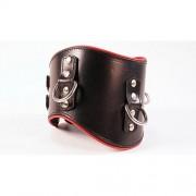 Avalon - Bredt collar med god polstring Sort og rødt
