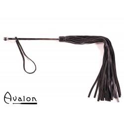 Avalon - Sort flogger med langt metall håndtak