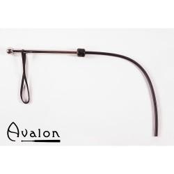 Avalon - Sort 1-halet silikonflogger med metall håndtak