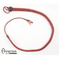 Avalon - Bullwhip heavy handle, Sort og rød 1,3 m