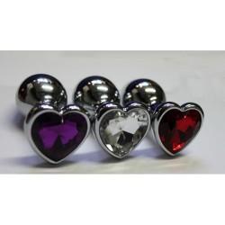 BQS - Buttplug med hjerte krystall