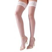 Cottelli Collection - Stay-ups med blondekant - Hvit